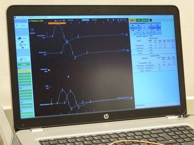 Computerbildschirm mit Messdaten